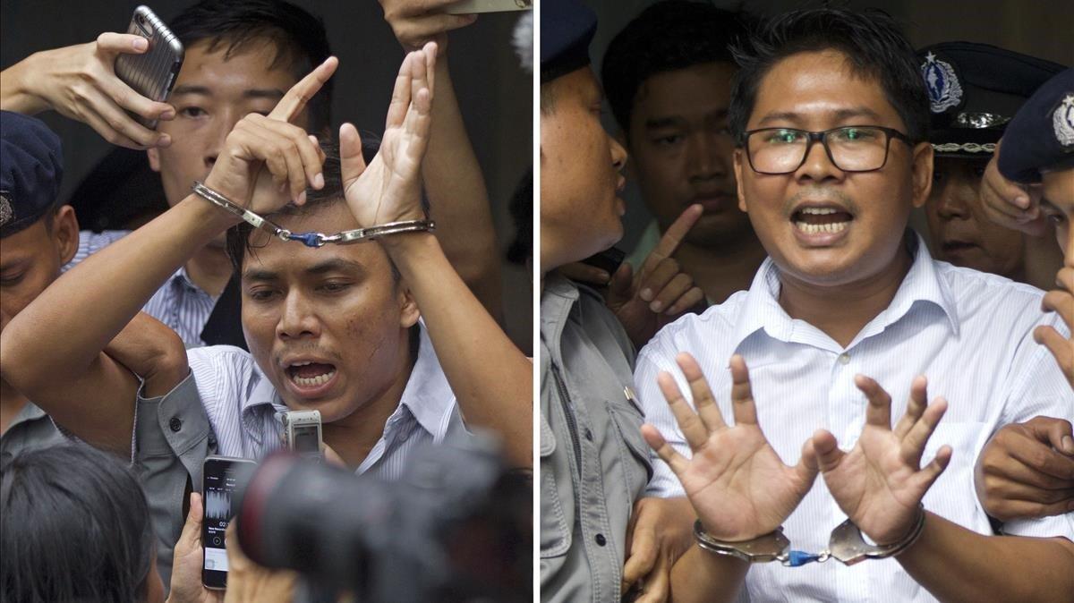 Els dos periodistes de Reuters detinguts a Birmània continuaran a la presó