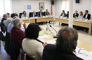 Plano general del Consejo de Alcaldes del Maresme que se ha celebrado el martes 28 de enero en Mataró.