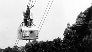 Fotografía histórica del teleférico de Sant Jeroni.