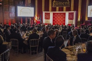La gala de entrega de los premios de Foment, ayer en Barcelona.