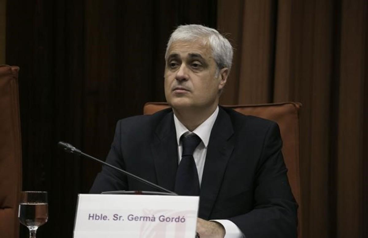 Germà Gordó, durante su reciente comparecencia ante la comisión de Afers Institucionals del Parlament.