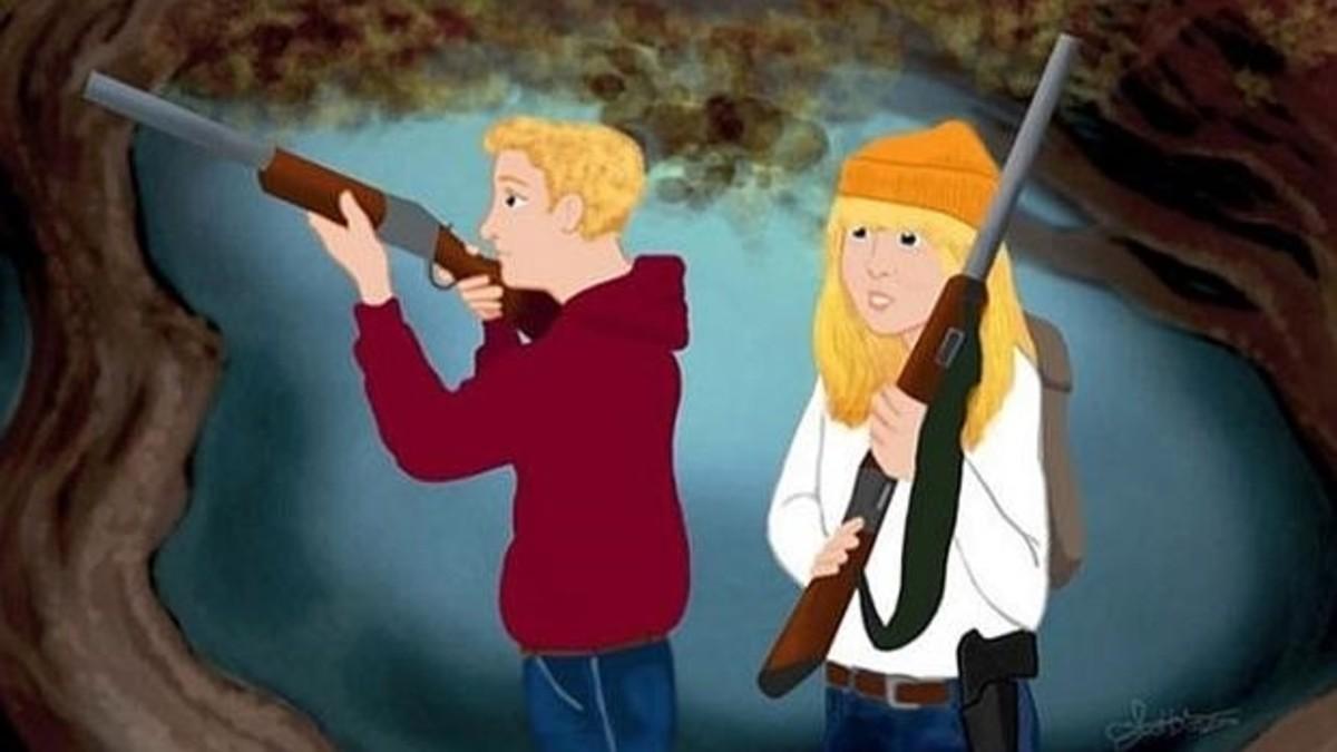 Hansel y Gretel son cazadores y salvan a dos niños desarmados de la bruja en el clásico reescrito por Amelia Hamilton.