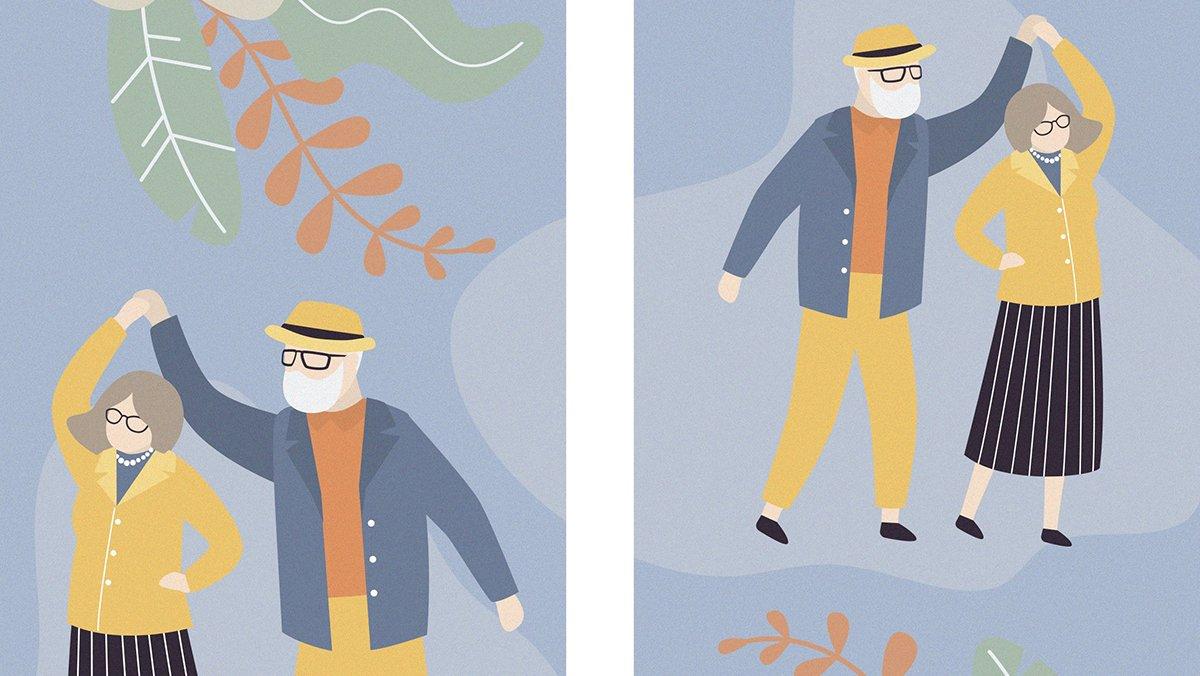 Ilustración del Programa de Personas Mayores de la Fundación la Caixa