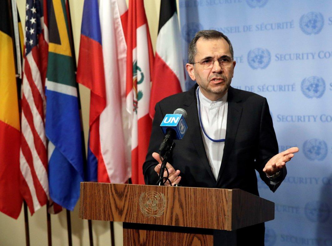 El embajador de Iránn ante las Naciones Unidas,Majid Takht-Ravanchi. EFE