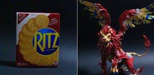 El japonés que transforma cajas de cereales o galletas en arte