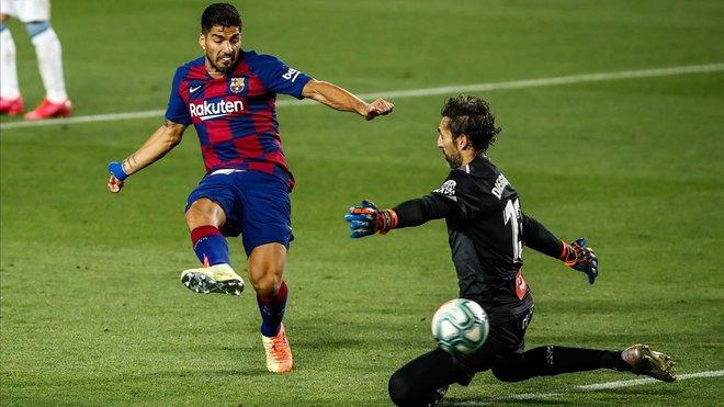 Suarez ja és el tercer màxim golejador del Barça