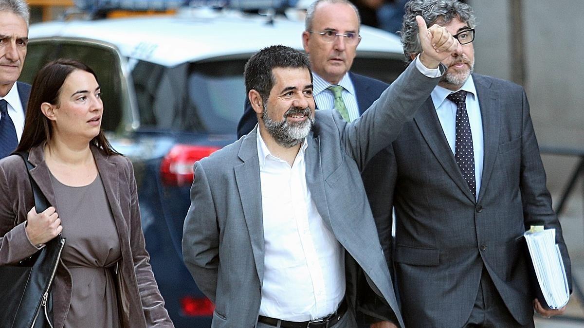 Jordi Sànchez, a su llegada a la Audiencia Nacional el pasado octubre.