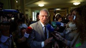 Josep Borrell, este lunes en Madrid.