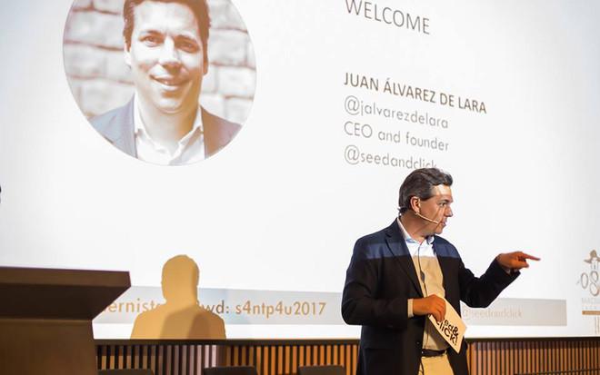 Juan Álvarez de Lara, CEO de Seed&Click, en la pasada edición del 080 Investor Day.
