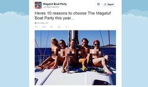 La imagen promocional (pixelada) de la empresa Magaluf Recruit.