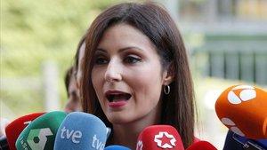 Lorena Roldán entrevistada en Madrid.