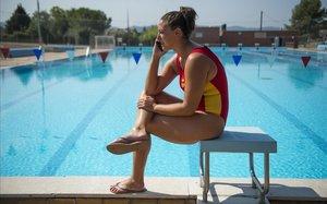 Maica García, boya de la selección española de waterpolo