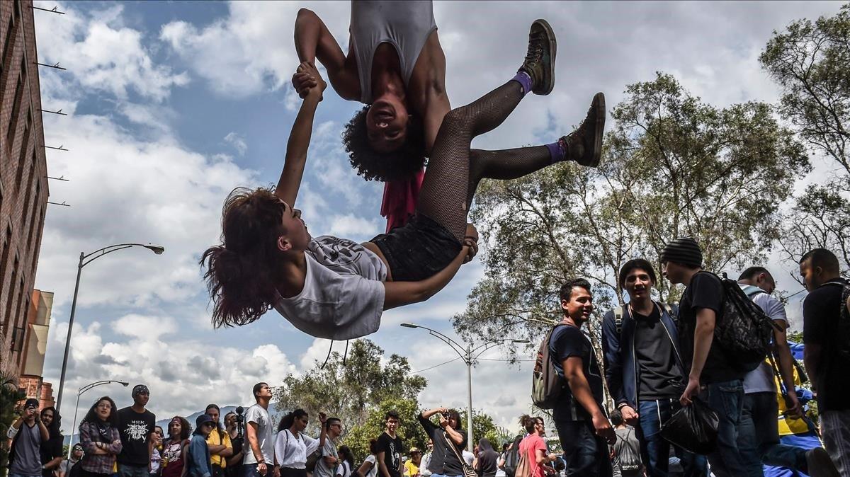 Manifestación en Medellín, Colombia, en diciembre del 2018.