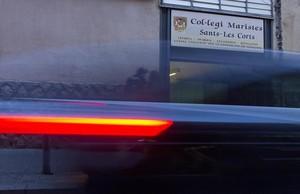 Entrada del colegio de los Maristas de Sants-Les Corts en la calle Vallespir de Barcelona.
