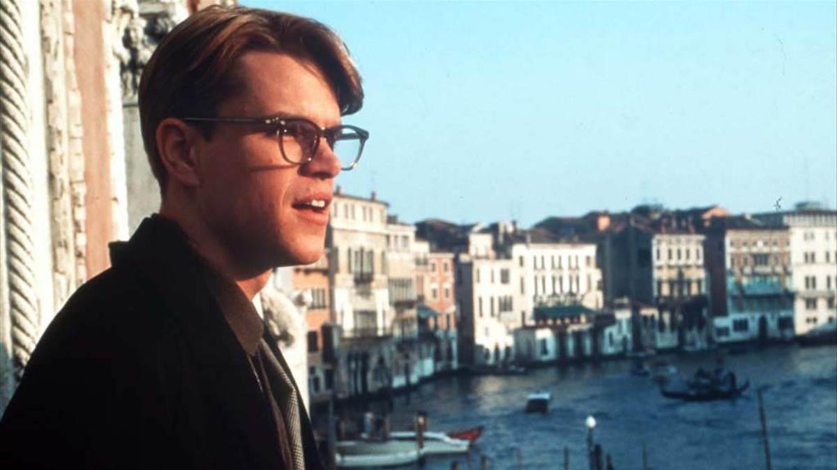 Matt Damon en la película El talento de Mr. Ripley, personaje que homenajea BCNegra.