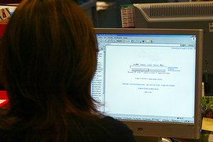 Una estudiante de la Universitat Oberta de Catalunya (UOC), en una imagen de archivo.