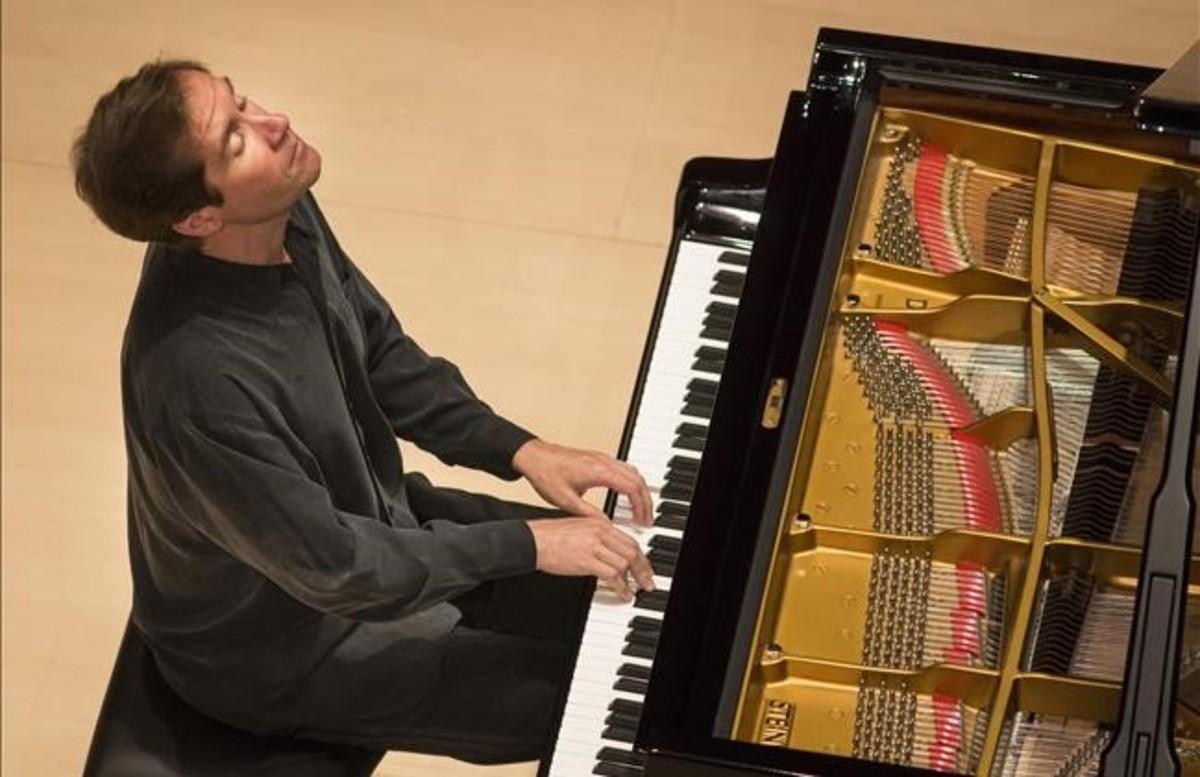 Nikolai Lugansky, el lunes durante su actuación de lunes en el Festival de Torroella.