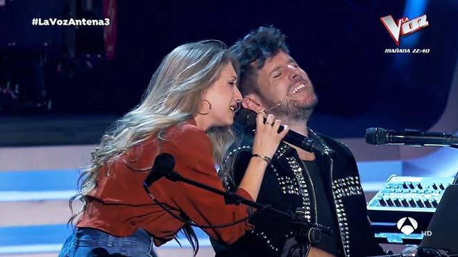 Palomy y Pablo López (La Voz, A-3 TV).