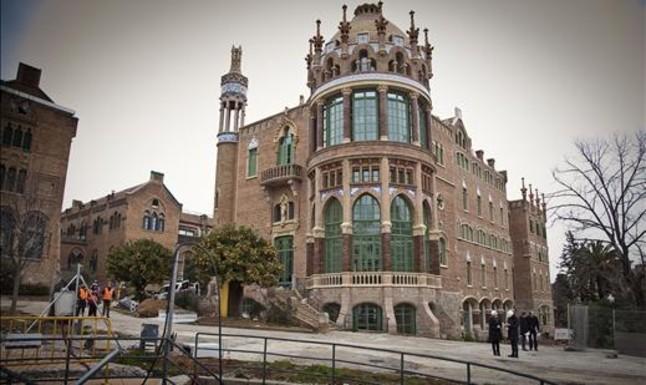 Pabellón de Sant Manuel del antiguo Hospital de Sant Pau, ya restaurado, donde se trasladará Casa Àsia. JOAN PUIG