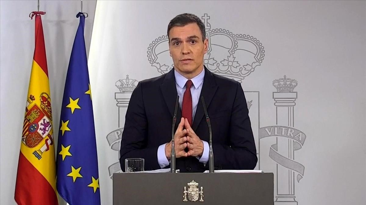 Pedro Sánchez, durante su comparecencia tras el consejo de ministros.