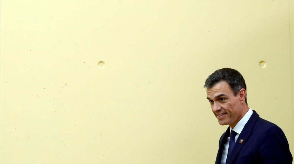 Pedro Sánchez, este jueves en Salzburgo (Austria).