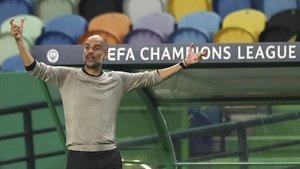 Pep Guardiola no pudo ocultar su frustración ante la eliminación