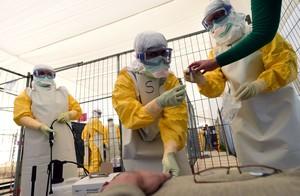 Personal de Metges sense Fronteres rep formació sobre mesures de protecció contra lEbola, l1 doctubre a Brussel·les.