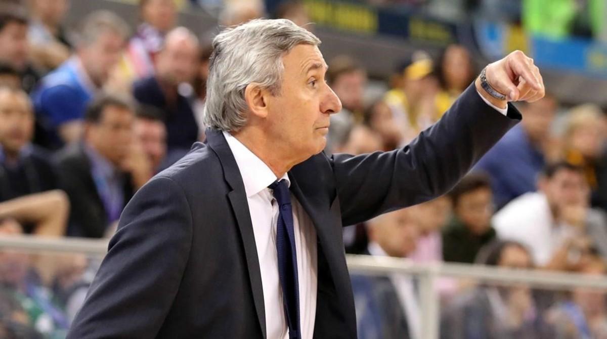 Pesic, durante la final que ganó el Barça al Madrid en Las Palmas.