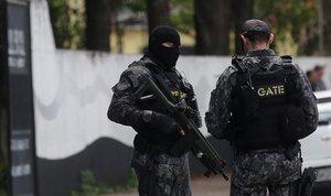 Un operativo de la Policía deBrasil en contra de asaltantes de bancos.