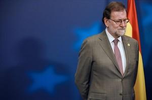 El presidente del Gobierno, Mariano Rajoy, en una reciente cumbre en Bruselas.