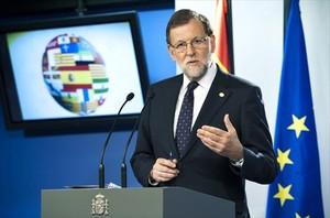El presidente Mariano Rajoy, ayer, en Bruselas.