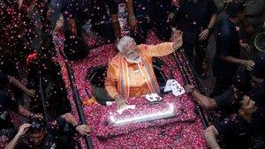 El primer ministro indio, Narendra Modi, durante un acto el pasado 25 de abril.
