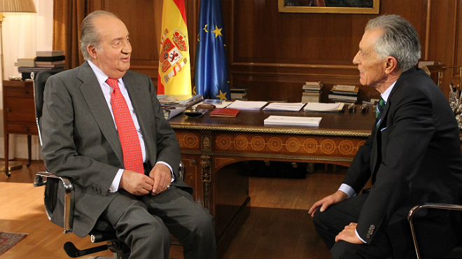 El gener del 2013 Jesús Hermida va entrevistar el rei Joan Carles.
