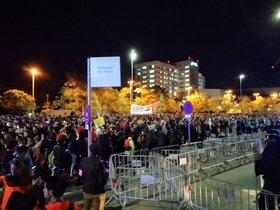 Batalla campal als voltants de l'Hospital Parc Taulí de Sabadell la nit del 15 d'octubre