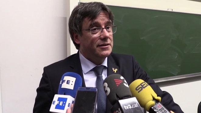 Puigdemont dice que recibiría a Arrimadas en Waterloo para charla cordial.