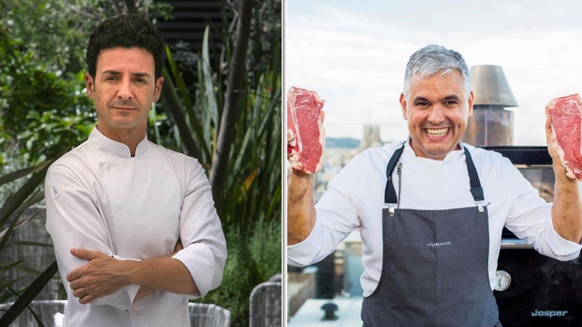 Raül Balam y Nandu Jubany, en El Jardí Moments (Hotel Mandarin Oriental) y Dolce Vitae (Hotel Majestic), respectivamente.