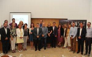 Representantes del Consejo de la FP del Baix Llobregat en el acto de constitución de este miércoles
