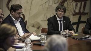 Reunión del Govern al Palau de la Generalitat.