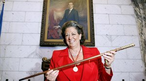 Rita Barberà, con la vara de mando en una imagen del 2007.