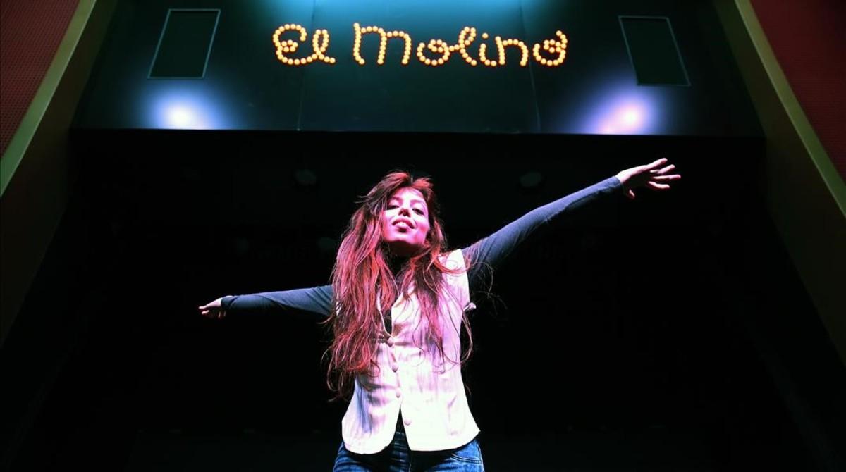 Soleá Morente, fotografiada a las puertas de El Molino, donde actúa el miércoles 8.