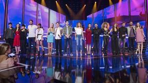 Los concursantes de la edición de OT (TVE-1) del 2017.