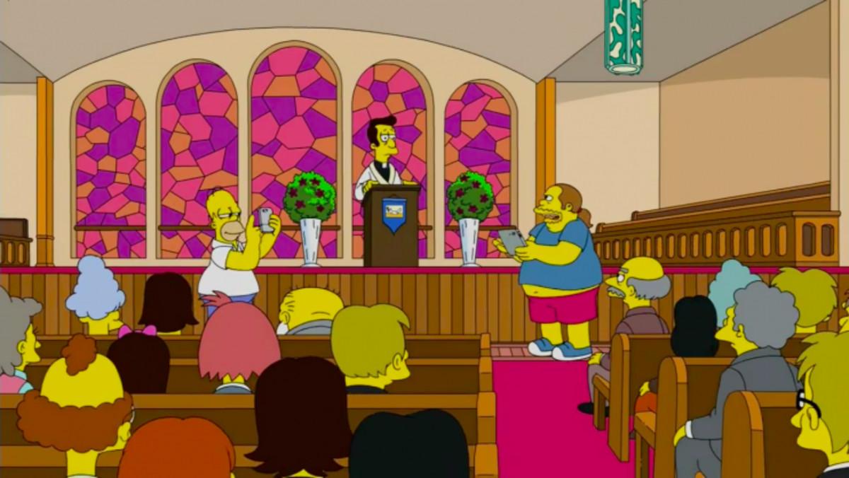 Imagen de la serie de la cadena Fox Los Simpson.