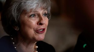 Theresa May en un acto en Londres