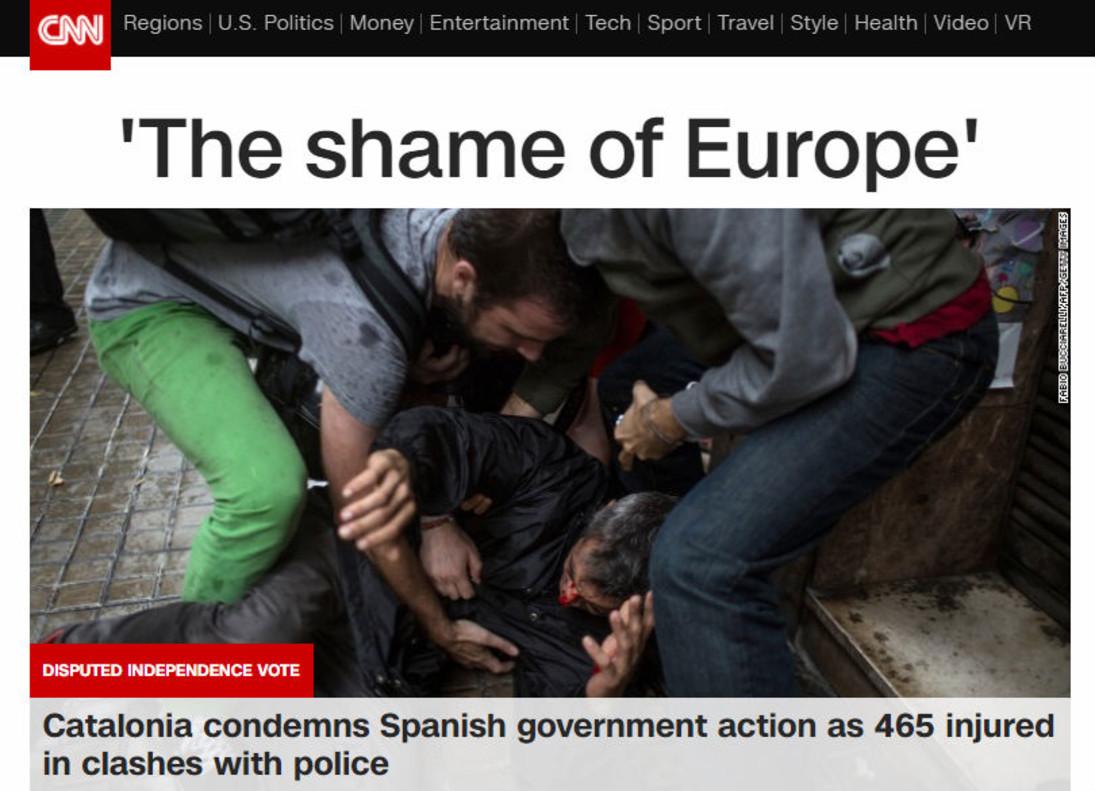 CNN sobre las cargas policiales: La vergüenza de Europa.