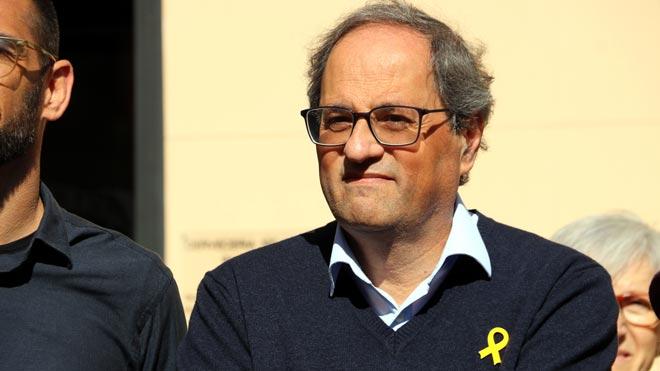 Torra, citando a un poeta catalán:Quieren devorarnos y lucharemos por no ser devorados.