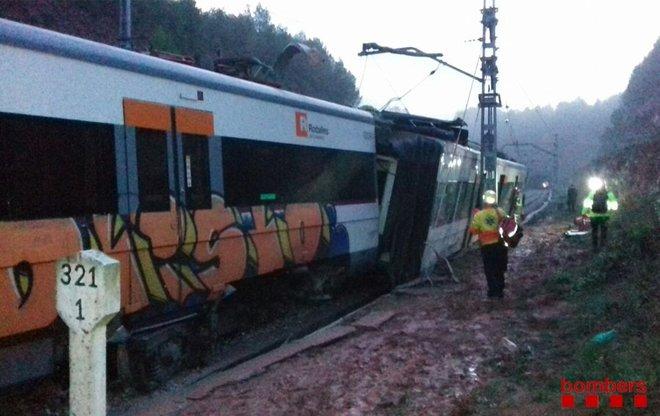 El tren accidentado de Rodalies.