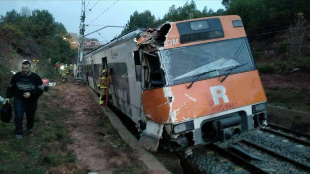 El tren que descarriló en Vacarissesel lunes 19 de noviembre.