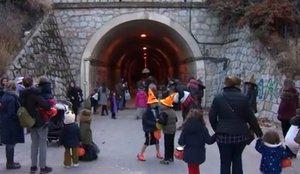 Exterior del túnel que une Fuencarral y Las Tablas, en Madrid.