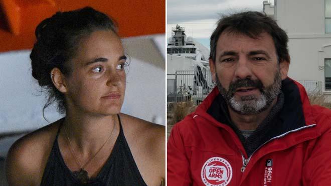 El Parlament atorga la medalla d'honor a Carola Rackete i Òscar Camps
