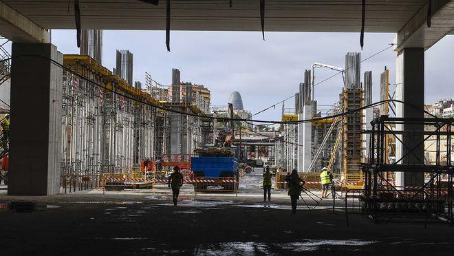 Les obres de l'estació de l'AVE de la Sagrera arriben gairebé a la meitat